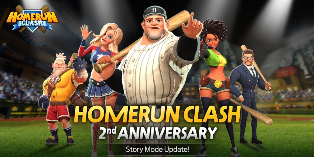Homerun Clash celebrates its second anniversary by introducing a Story Mode and new Batter