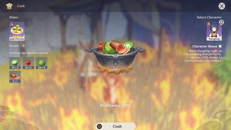 Genshin Impact Cooking Guide Healing Food Ingredients 4