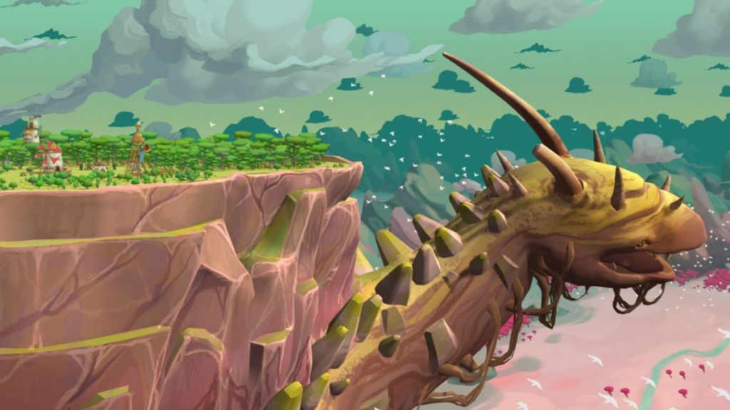 This city builder takes place on the back of a huge, wandering creature