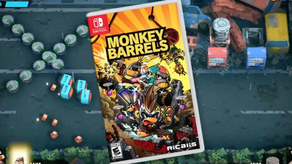 Good-Feel's Twin-Stick Shooter Monkey Barrels Is Getting A Physical Switch Release