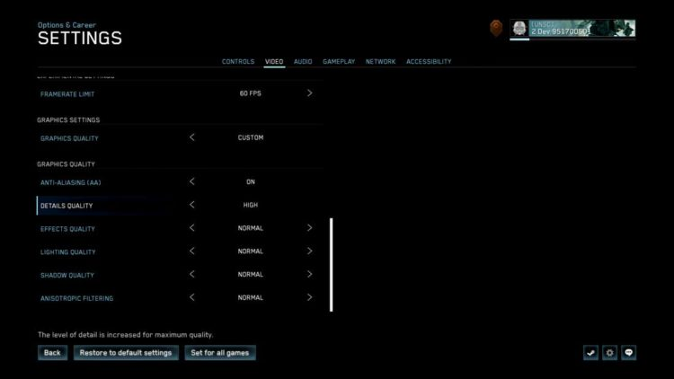 Halo: the master chief collection update Graphics Settings