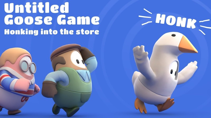 Untitled Goose Game Costumes Terrorize Fall Guys