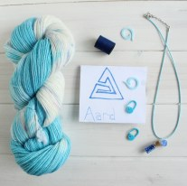 Aard Witcher 3 themed yarn by GamerCrafting