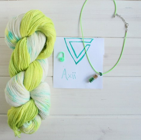 Axii Witcher 3 themed yarn by GamerCrafting