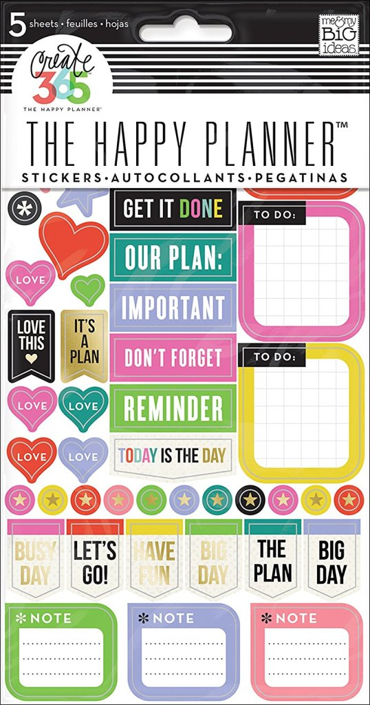 Bullet journal planner stickers