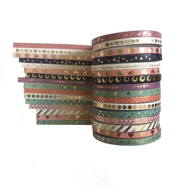 Metallic skinny washi tape