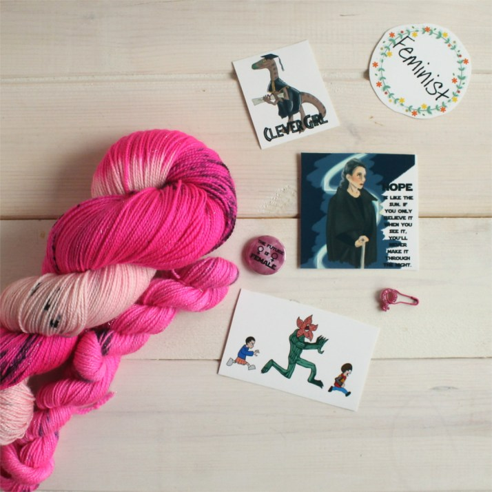 January 2018 mystery yarn club subscription reveal