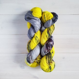 Witches/' Brew Hand-dyed speckled neon DK weight yarn