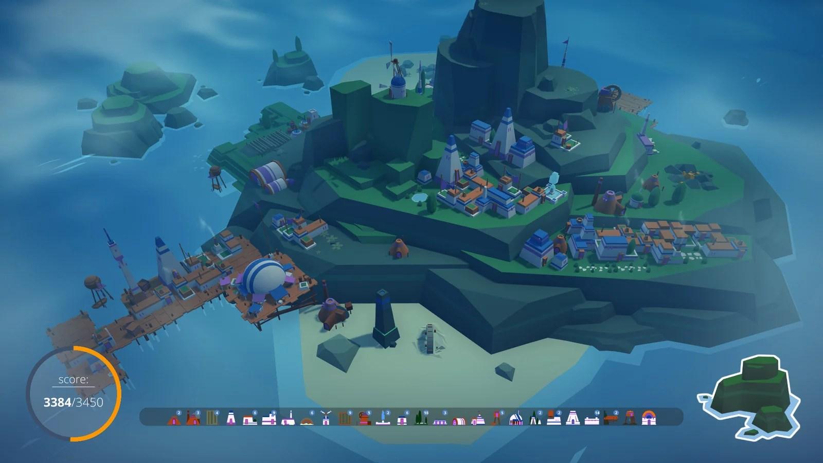 """""""Puzzle Pelago"""" quebra-cabeças com construção de base"""