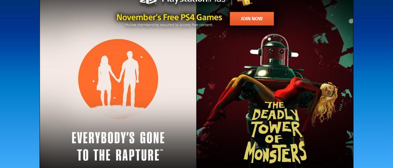 Playstation Plus Novembro 2016