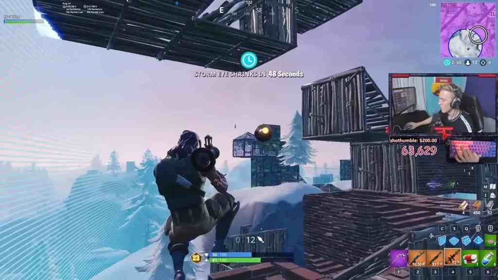Stretched resolution used by Tfue in Fortnite