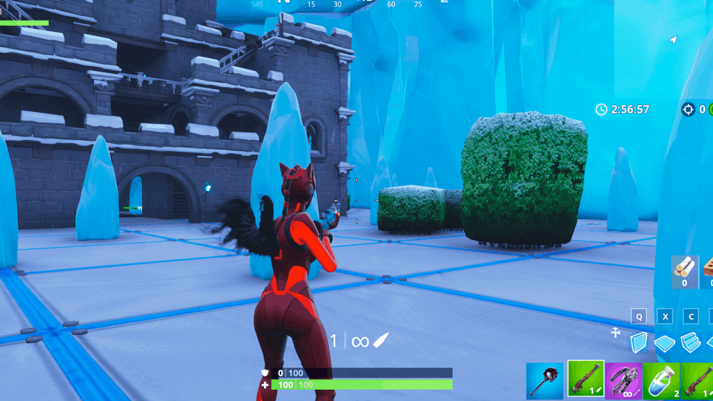 Winter sniper only map in creative Fortnite