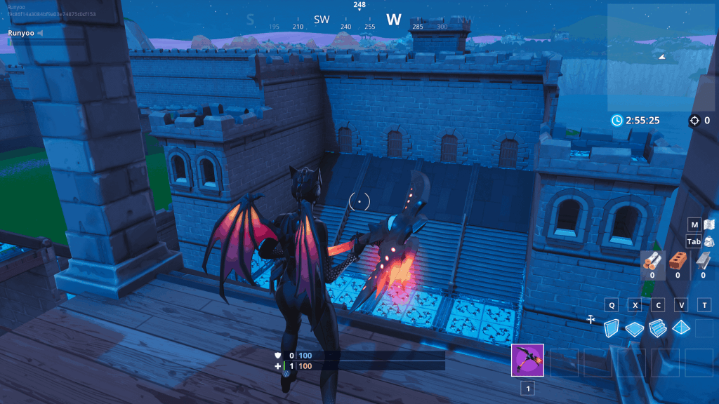 Castle deathrun obstacle course in Fortnite creative map code