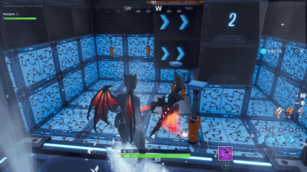 Cizzor's deathrun challenge obstacle course in Fortnite creative mode
