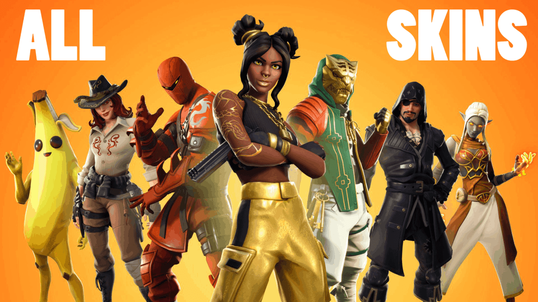 Fortnite season 8 all skins in battle pass and item shop