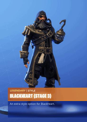 Fortnite Blackheart skin stage 3 season 8 battle pass
