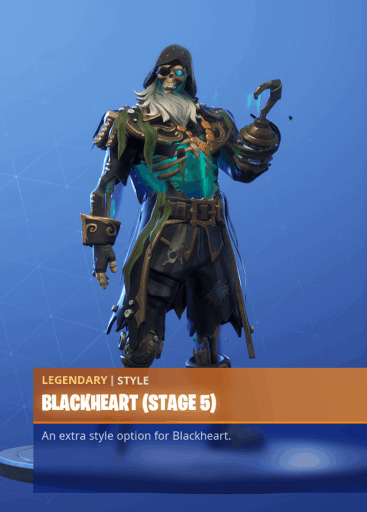 Fortnite Blackheart skin stage 5 season 8 battle pass