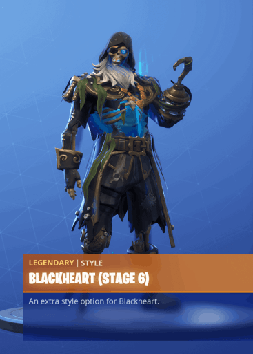 Fortnite Blackheart skin stage 6 season 8 battle pass