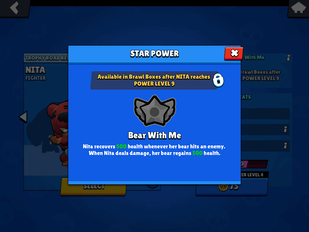 Brawl Stars Nita star power