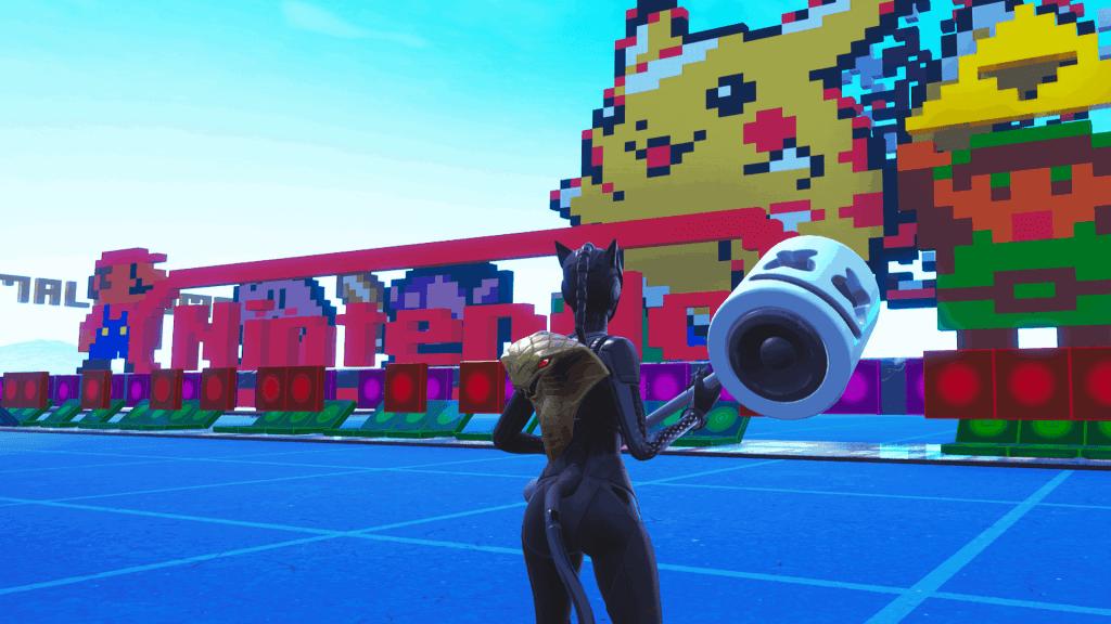 Super Mario Bros theme song map code Fortnite creative mode