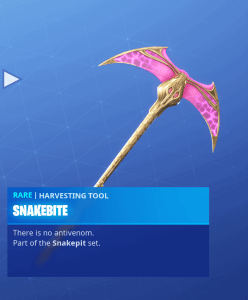 Tier 38 Snakebite pickaxe