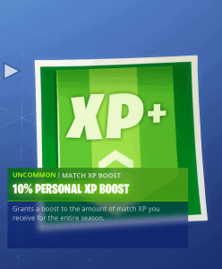 Tier 64 10% personal XP boost