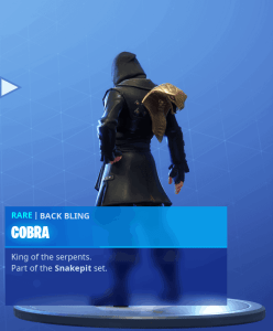 Tier 7 Cobra back bling