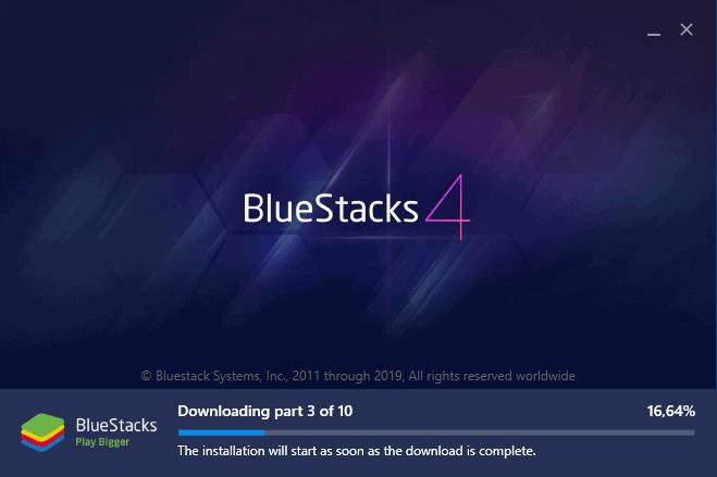 Bluestacks Installer screen