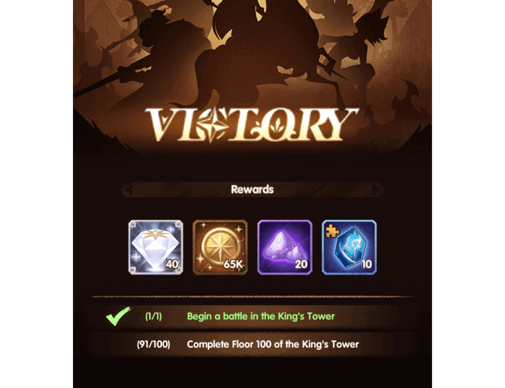 King's Tower soulstone reward AFK Arena
