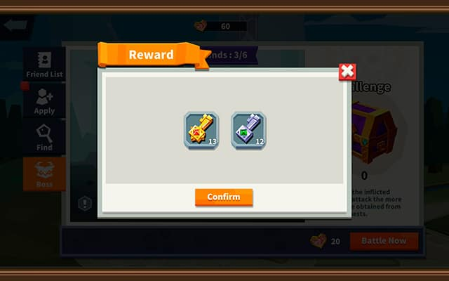 Epic Summoners 2 summon keys from friend boss