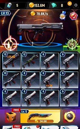 Idle Gun Tycoon gameplay screenshot