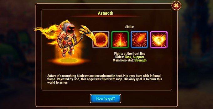 Hero Wars Astaroth hero