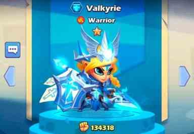 Valkyrie hero Taptap Heroes