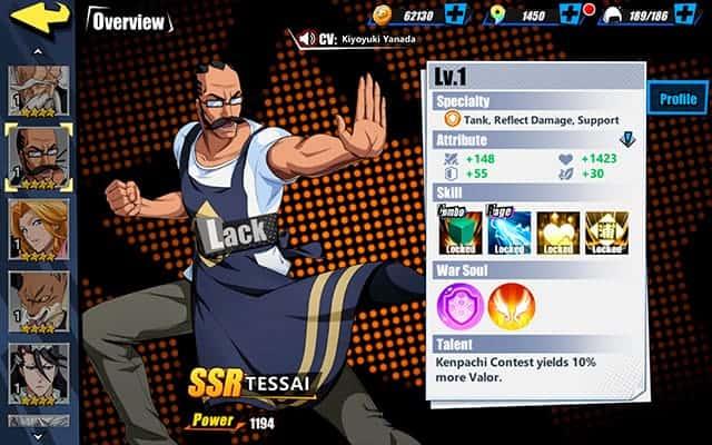 Bleach Immortal Soul Tessai Character