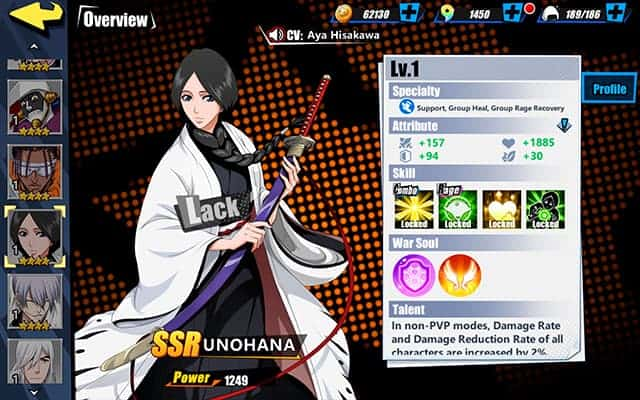Bleach Immortal Soul Unohana Character