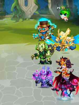 Taptap Heroes team setup screenshot
