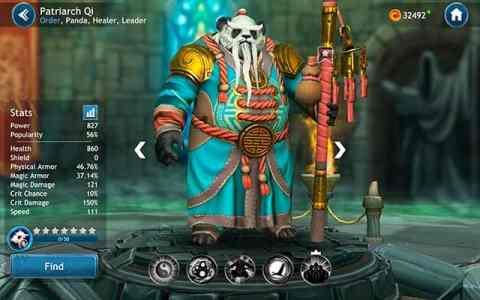 Dragon Champions Patriarch Qi hero