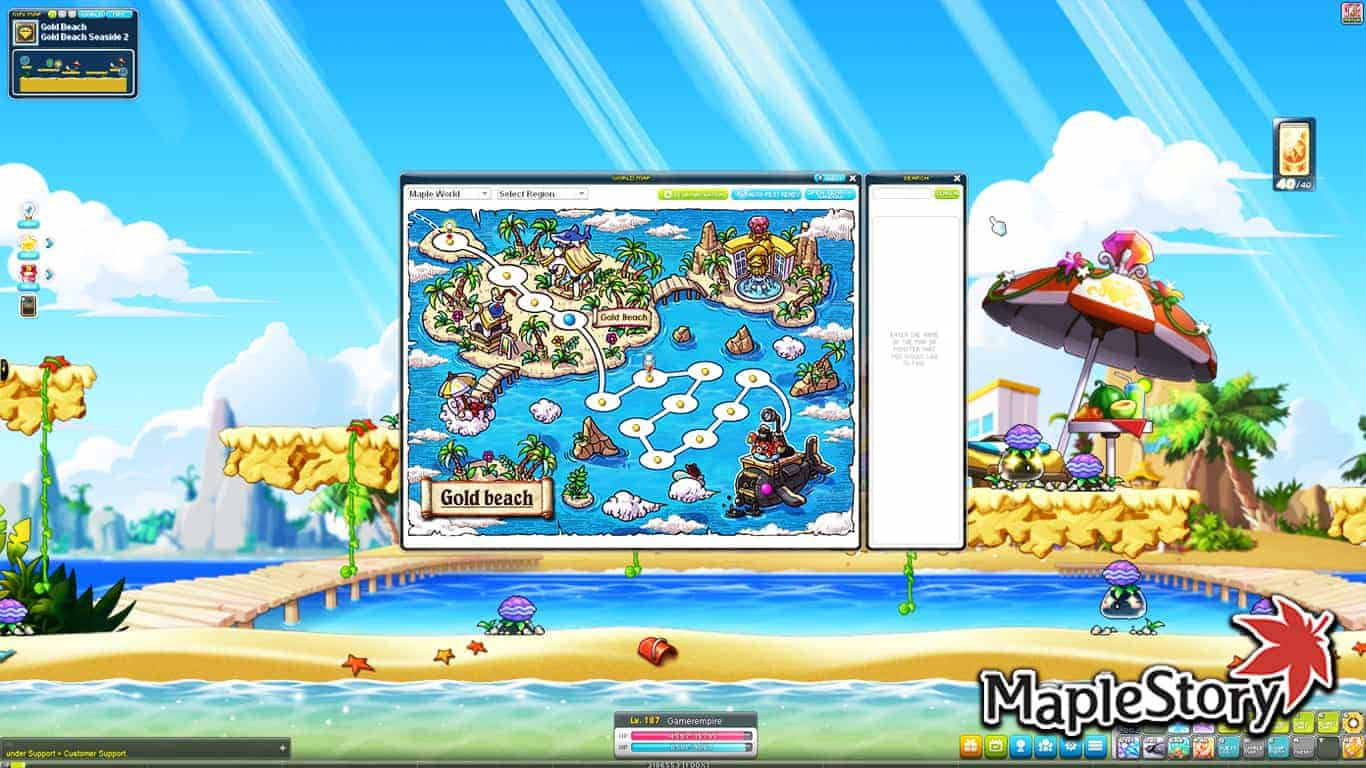Maplestory – How To Get To Gold Beach