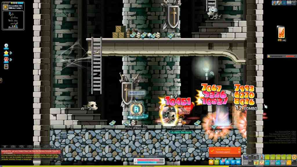 Maplestory Training Guide Level 55-60 Skeledog and Mummydog