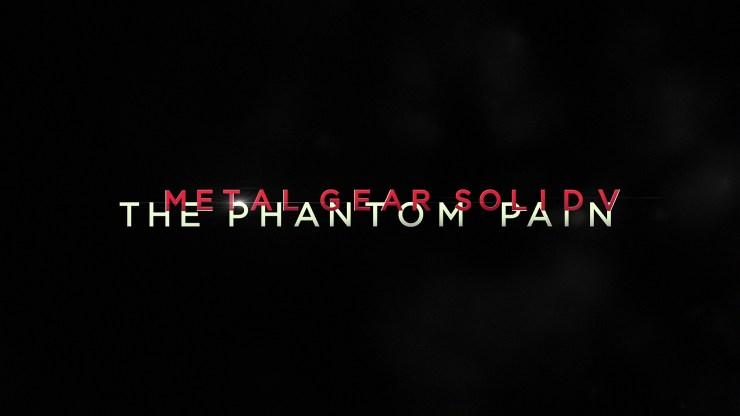 Metal Gear Solid V MGS The Phantom Pain