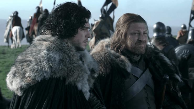 Game of Thrones Eddard Ned Stark Jon Snow