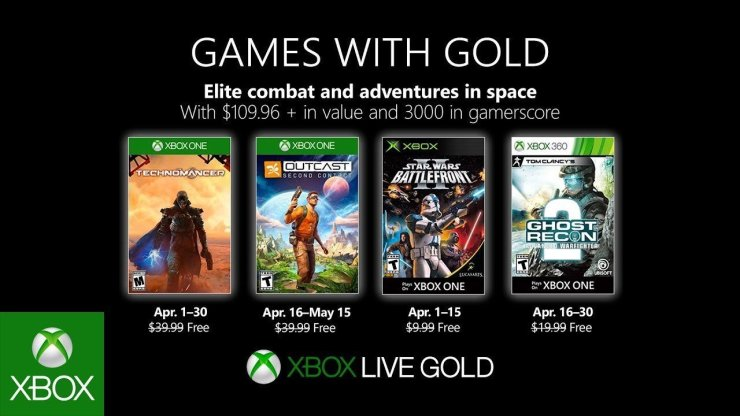 Games With Gold - Abril