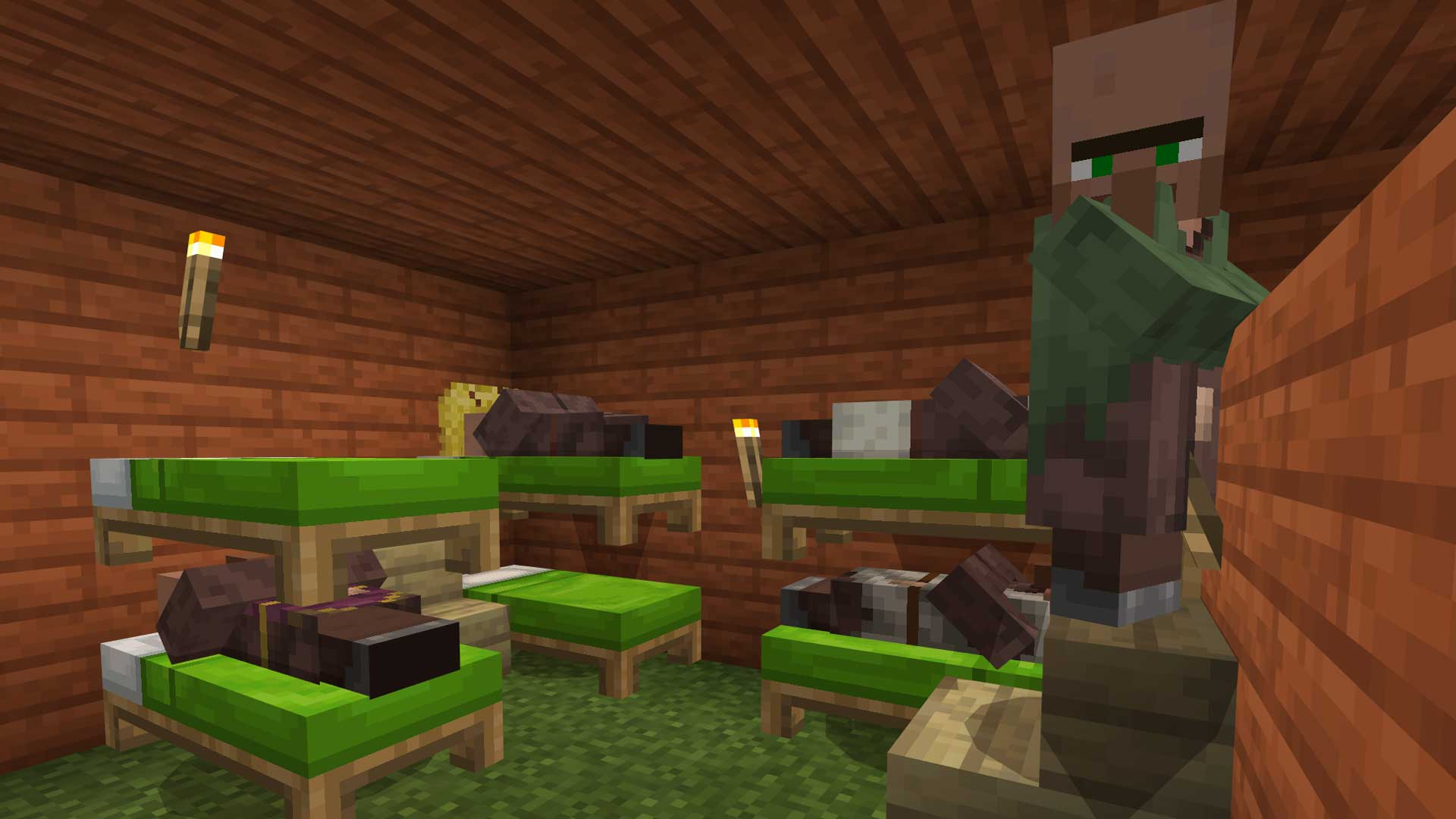 Minecraft Villager Bunk Beds For Compressed Living Gamerheadquarters