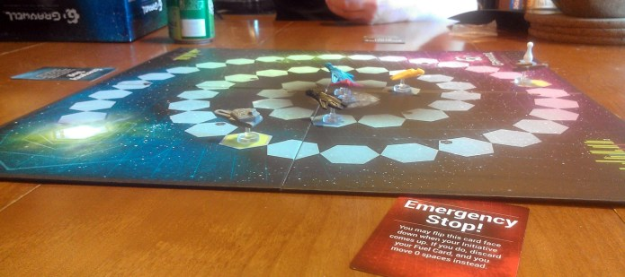 What was played: Gravwell Who played it: A couple Tim knows through work Why: Filling in time until dinner +1 wonky physics rolls: I'm finally getting this game. The physics is wonky. The chemical names are wonky. But it all makes for a fun time.