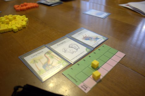 What was played: Evolution Who played it: Neighbors Why: Prototype review for Kickstarter campaign