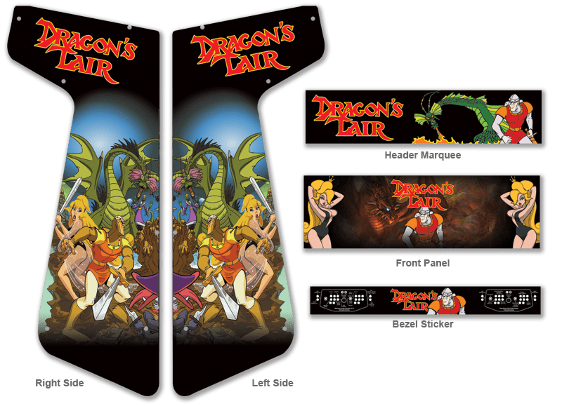 Customer submitted custom dragon s lair graphics for for Room wraps
