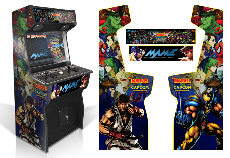 Customer Submitted: Custom Permanent Full Mame Marvel Vs Capcom Inspired  Graphics For Xtension Arcade