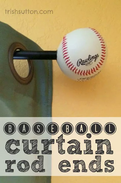 Baseball Curtain Rod