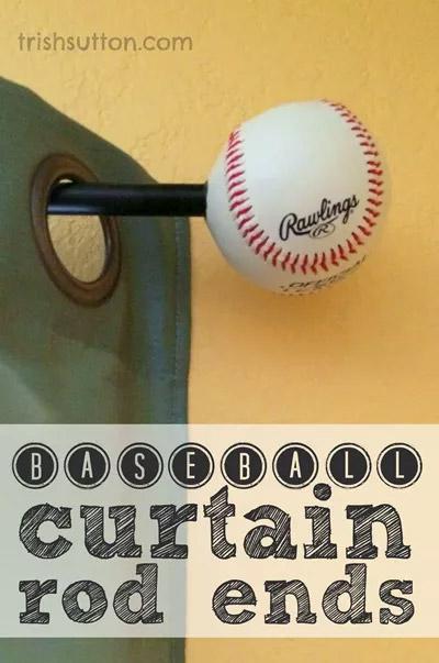 Baseball Curtain Rod