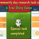 Community Day: Eevee Special research task completed | New task pokemon go